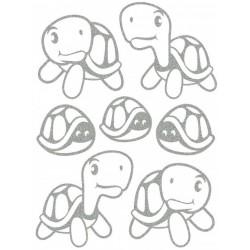 Reflexní nažehlovací potisk - Želvičky II (4+3 ks)