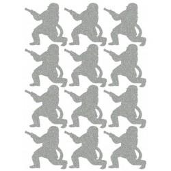 Reflexní nažehlovací potisk - Hasiči (12 ks)