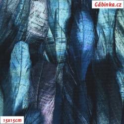 Kočárkovina Premium, Pírka modrá, šíře 160 cm, 10 cm, ATEST 1
