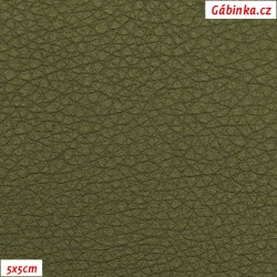 Koženka SOFT LESK 142 - Khaki zelená, šíře 140 cm, 10 cm