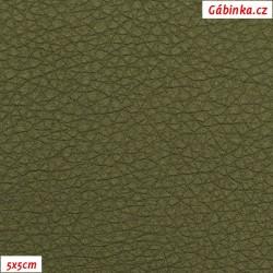 Koženka SOFT LESK 142 - Khaki zelená, 5x5 cm