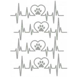 Reflexní nažehlovací potisk - Milujeme pejsky (4 ks)