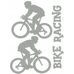 Reflexní nažehlovací potisk - Cyklistika (2+1 ks)