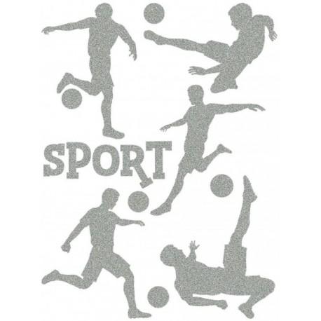 Reflexní nažehlovací potisk - Fotbal (5+1 ks)