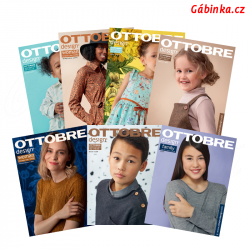 Časopis Ottobre design 2019 - anglicky, celý ročník, 7 ks, 1 balení