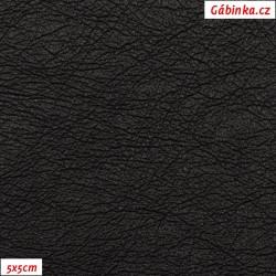 Koženka ULTRASOFT LESK 23 - Černá, ONYX, šíře 140 cm, 10 cm