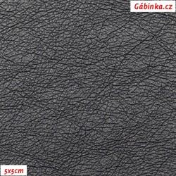 Koženka ULTRASOFT LESK 24 - Modročerná, DUMORTIERIT, šíře 140 cm, 10 cm