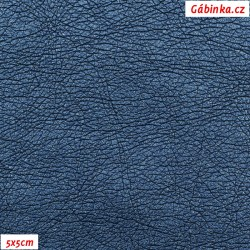 Koženka ULTRASOFT LESK 32 - Modrá, ACHÁT, šíře 140 cm, 10 cm