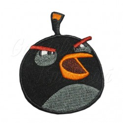 Nažehlovačka - Angry Birds - Black/Bomb Bird (BB)