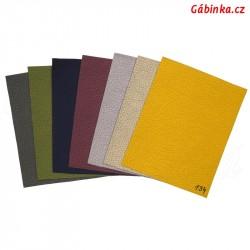 Doplněk staršího vzorníku koženky SOFT LESK - prosinec 2020, 8 barev