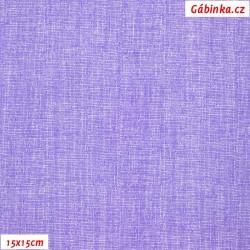 Plátno - Lněná půda fialová, šíře 150 cm, 10 cm, ATEST 1