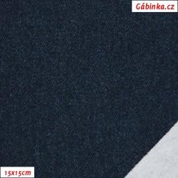 Teplákovina s EL BIO POPPY - Tmavě modrá jeans, 15x15 cm