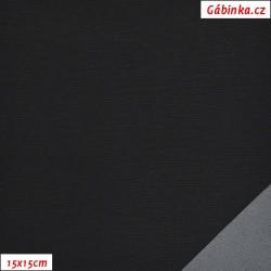 Šusťák KENT 001 - Černý, šíře 145 cm, 10 cm
