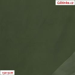 Light, water-repellent nylon - Khaki, 15x15 cm