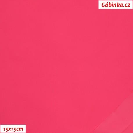Light, water-repellent nylon - Pink NEON, 15x15 cm