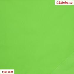 Light, water-repellent nylon - Green NEON, 15x15 cm