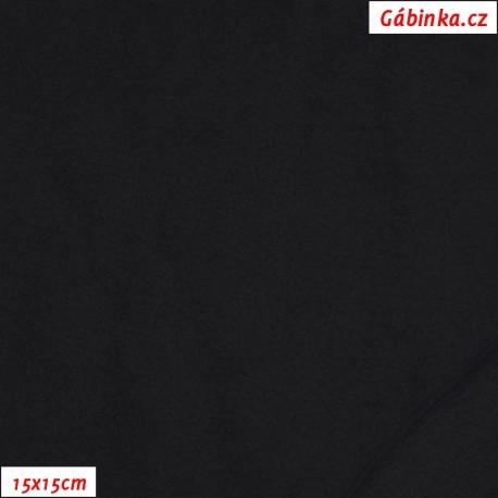 Thin fleece 01 - Black, 15x15 cm