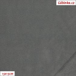 Tenký fleece 02 - Šedý, 15x15 cm