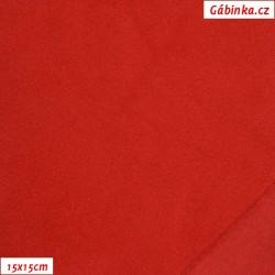 Tenký fleece 07 - Červený, 15x15 cm