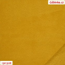 Thin fleece 09 - Light Mustard, 15x15 cm