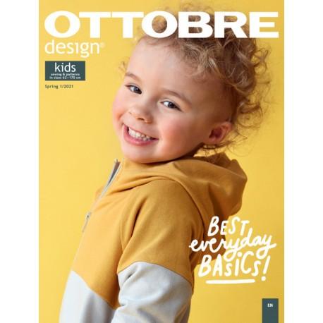Časopis Ottobre design - 2021/1, Kids, jarní vydání, titulní strana