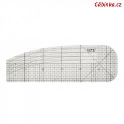 Pravítko pro zažehlování okrajů, 10x30 cm