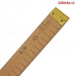 Metr dřevěný plochý 0,5 m - stanovené měřidlo 2020, 1 ks
