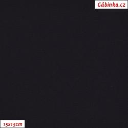 Funkční materiál SILVER - Černý, šíře 140 cm, 10 cm, 2. jakost