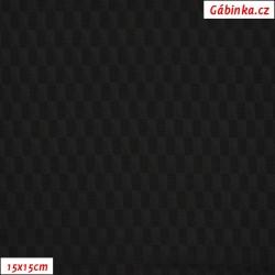 Podšívkovina Tivoli Andromeda žakár 100 - Černé trojúhelníky, 15x15 cm