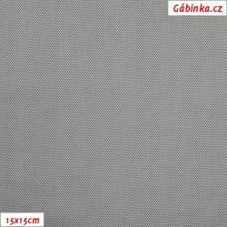 Podšívkovina Tivoli Rete žakár 107 - Stříbrnošedé MINI kosočtverce, šíře 140 cm, 10 cm
