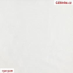 Podšívkovina Tivoli Rete žakár 802 - Bílé MINI kosočtverce, 15x15 cm