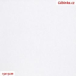 Lycra glossy 200 - White, 15x15 cm