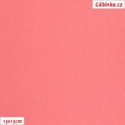 Lycra glossy 722 - NEON Salmon, 15x15 cm