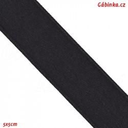 Stuha atlasová oboulící - Černá, šíře 20 mm, 10 cm