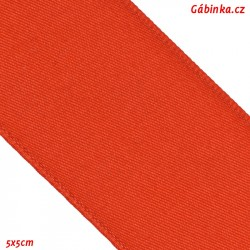 Double-sided satin ribbon - Red, width 38 mm, 10 cm