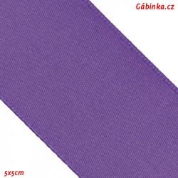 Double-sided satin ribbon - Purple, width 38 mm, 5x5 cm