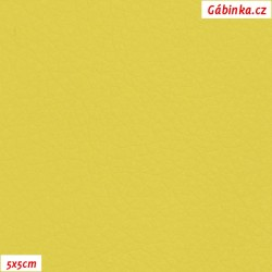 Koženka SOFT 43L - Zářivá žlutá, šíře 140 cm, 10 cm