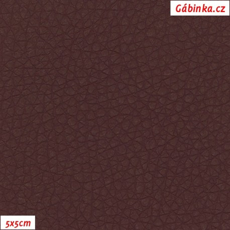 Koženka SOFT 24 - Vínová, 5x5 cm