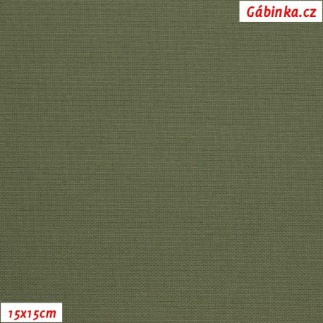 Kočárkovina MAT 610 - Khaki zelená, 15x15 cm