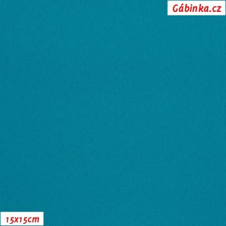 Kočárkovina MAT 41 - Tmavě tyrkysová, 15x15 cm