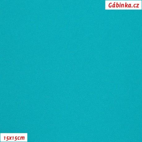 Kočárkovina MAT 166 - Tyrkysová, 15x15 cm
