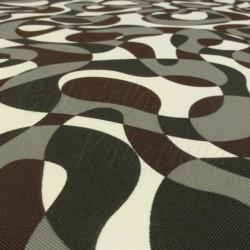 Kočárkovina MAT, Kamufláž s hnědou, šíře 160 cm, 10 cm, Atest 1