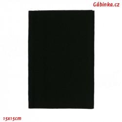 Nažehlovací záplata KEPR 99 - Černá, 11,5x40 cm, 1 ks