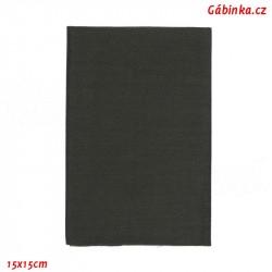 Iron-On Knee Patch TWILL 74 - Dark Gray, 11,5x40 cm, 1 pc