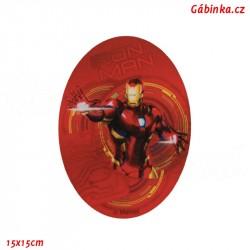 Záplata nažehlovací Avengers 1 - Iron Man, 15x15 cm