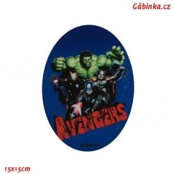 Záplata nažehlovací Avengers 5 - Tým, 15x15 cm