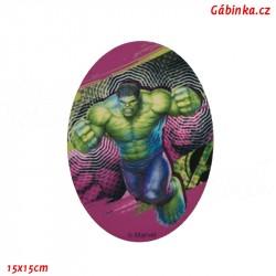 Záplata nažehlovací Avengers 7 - Hulk postava, 15x15 cm