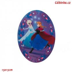 Záplata nažehlovací Ledové království 2 - Elsa a Anna, 15x15 cm