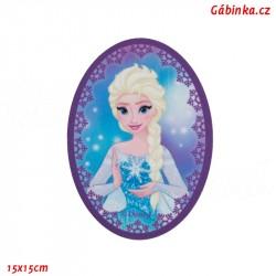 Záplata nažehlovací Ledové království 3 - Elsa, 15x15 cm