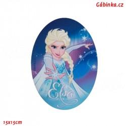 Záplata nažehlovací Ledové království 4 - Elsa, 15x15 cm